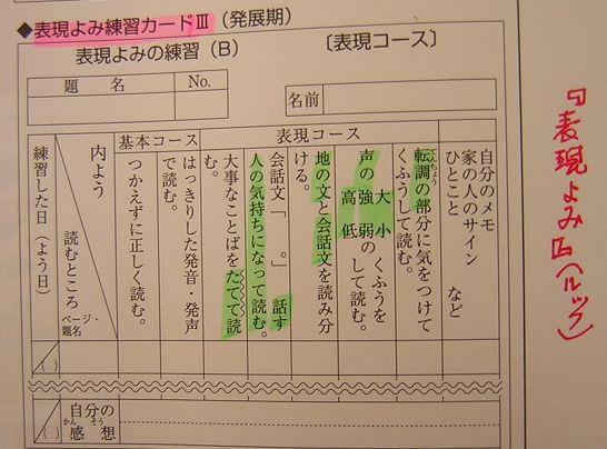 音読練習カード(2)