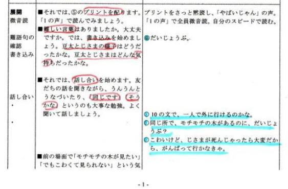 子どもの読み(1)