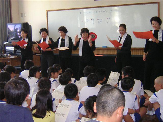 祭り・はっぴ。読みに参加・高学年。集団の読み。