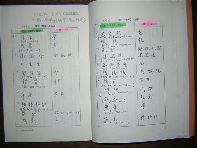 学力テスト漢字の許容
