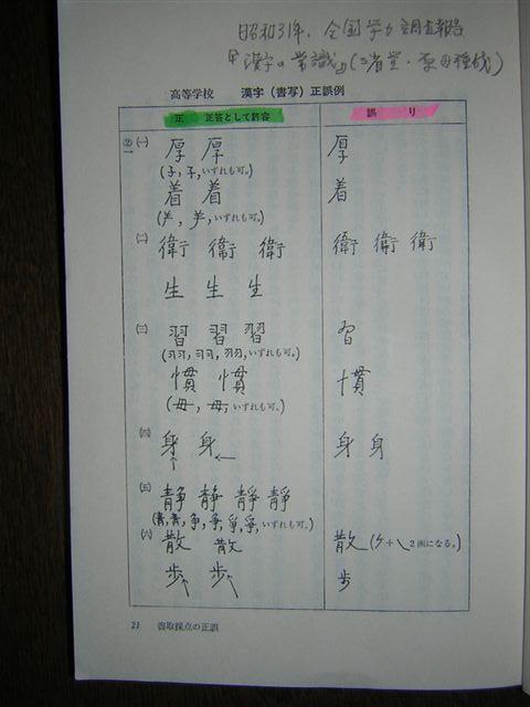 学力テスト。漢字の許容・高校