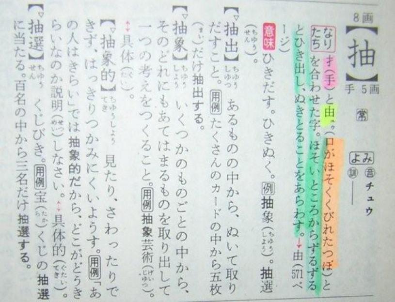 抽の成り立ちと漢字語