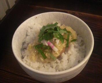 G麺7 しょうが玉子ごはん 2011.10.31