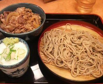 吉野家 ミニ牛丼と十割そばセット 2008.10.31