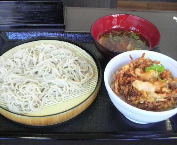 なか卯 鴨つけそば ミニかき揚げ丼 2009.9.1