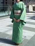 090215緑の紬~前~