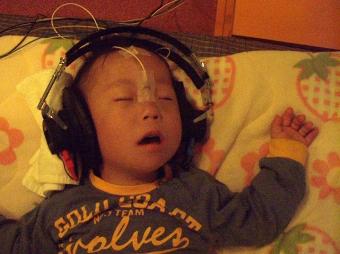 聴覚検査中