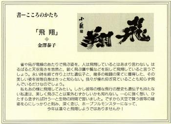 金澤泰子(文)、金澤翔子(書)『飛翔』