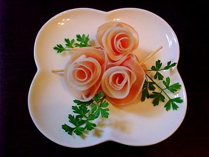 090622 薔薇(生ハム&大根)