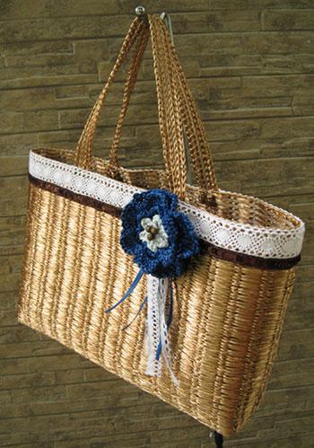 村上作 エコアンダリヤで作ったバッグ