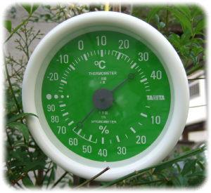 温度34度、湿度64%