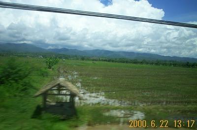 バスの車窓(タイ)