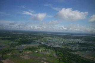 カンボジア上空