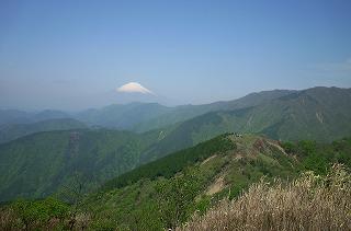 三の塔から富士山