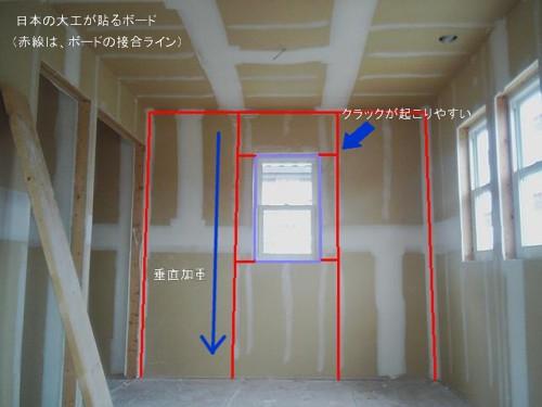 大工が貼る場合のボード壁