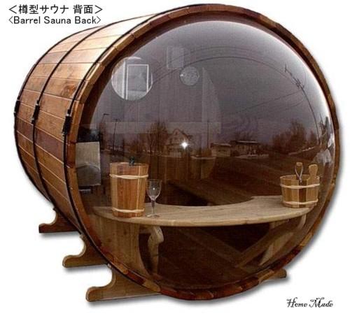 Barrel Sauna Back