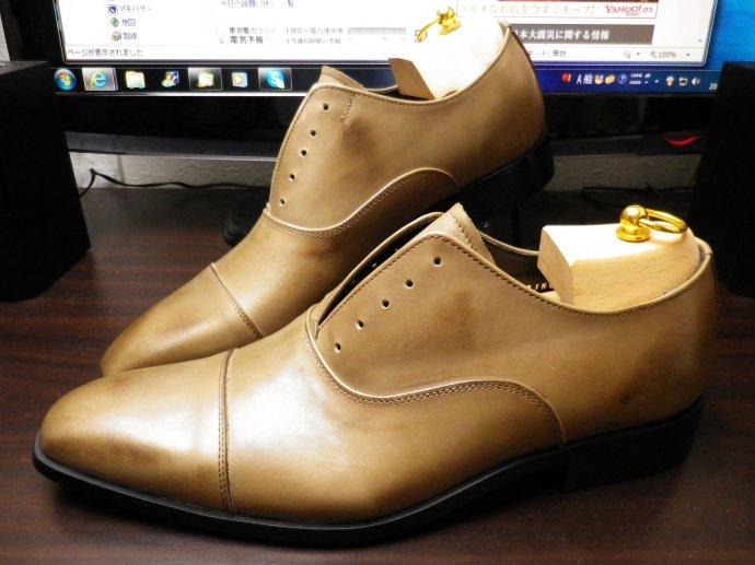 靴磨き、鏡面磨き、ピカピカ靴磨き、染め替え、パティーヌ2