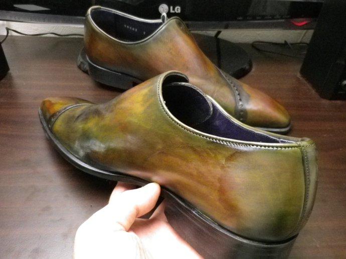 靴磨き、鏡面磨き、ピカピカ靴磨き、パティーヌ、染め替え5