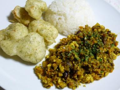 豆腐のドライカレー