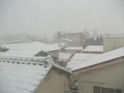 事務所雪景色