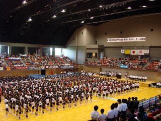 2011 中総体県大会開会式
