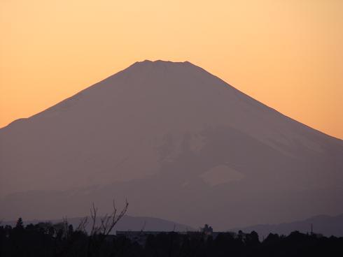 富士山 茜空