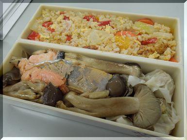 鮭とシメジのホイル焼き弁当.jpg