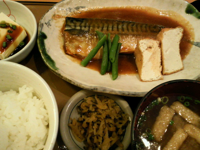 サバの味噌煮定食