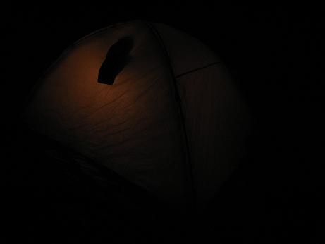 雪上テント泊