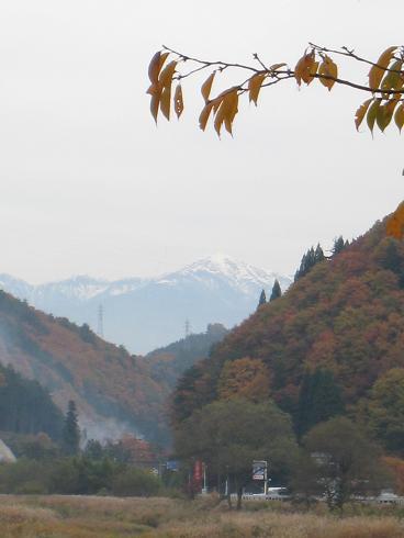 宮村から見た傘岳