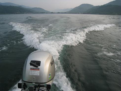 初めての琵琶湖での釣り