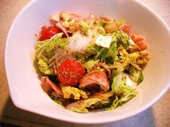白菜のサラダ完成