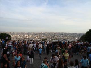 モンマルトルから見たパリ