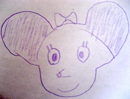 画伯のミニーマウス