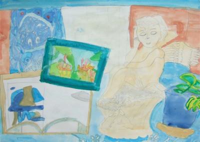 20100112子供の絵 天使
