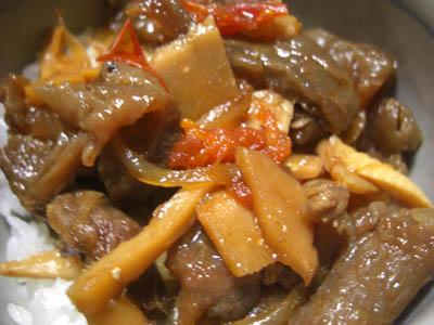 牛スジ 丼