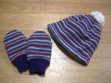 子供の手袋&帽子♪