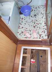 狭いお風呂場の改造