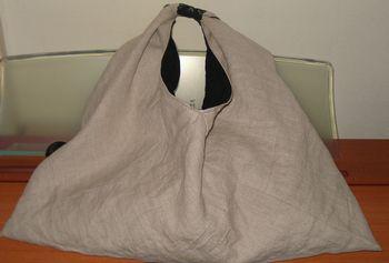 リネンのあずま袋バッグ
