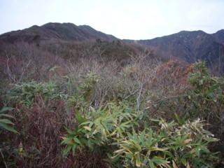 成谷山から僧ヶ岳方面