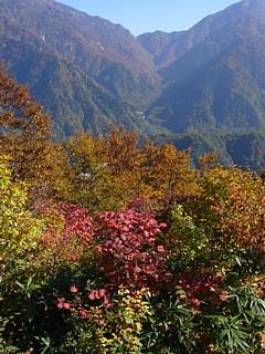 中山山頂からのブナクラ峠
