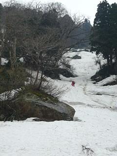 白萩川への下降