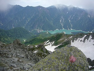 大汝山から黒部湖