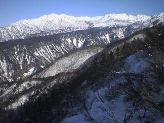 瀬戸蔵山より立山と大日連峰を望む