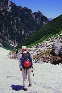 剱沢雪渓からマイナーピーク