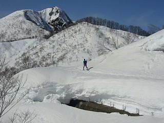 雪の量に注目