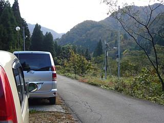 登山口に駐車
