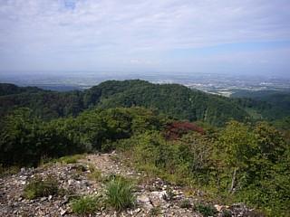 ハゲ山からの富山平野