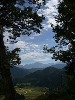 西山からの剱岳