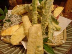 「い志い」穴子の天ぷら盛り合わせ